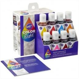 Colorante Liquido Color Right System - 601-6200 X    8 Unid. - Wilton Wilton - 1