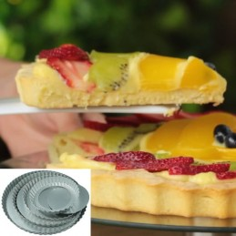 Molde Pasta Frola Desfondable Nº 28 Laton X Unid.  - 1