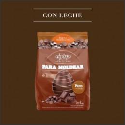 Chocolate Baño Moldeo Pins - Con Leche X   1 Kg - Alpino Alpino - 1