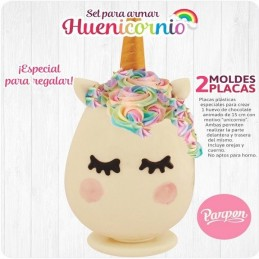Molde Especial Para Huevo Unicornio Grande 15 Cms X Unid.  - 1