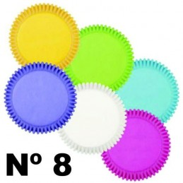 Pirotin Liso  Nº   8   Colores Pasteles Surtidos X   12 Unid.  - 1