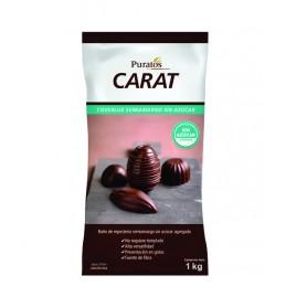 Chocolate Baño Moldeo Gotas Semiamargo Sin Azucar X  800 G - Carat Carat - 1