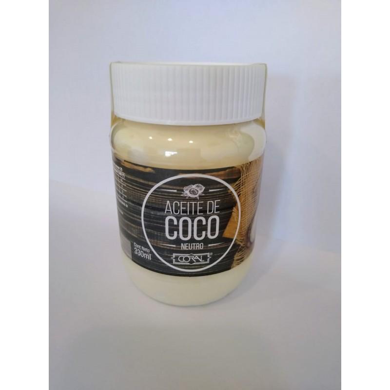 Aceite De Coco Neutro X  330 Cc - Coral Coral - 1